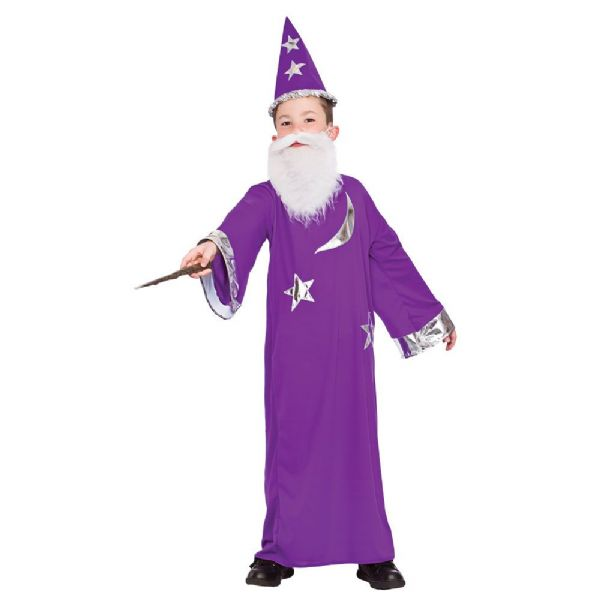 Childrens Boys Wizard Costume for Magician Magic Witch Halloween Fancy Dress